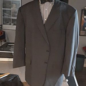 Jo's A Banks Mens Suit 54R. Pants cuffed and pleat